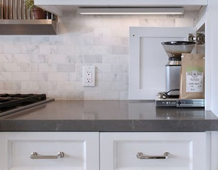 remodeled kitchen counters and cabinets